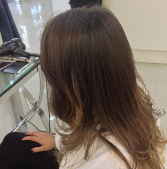 Meu cabelo depois da escova de brilho - Foto: Júnior