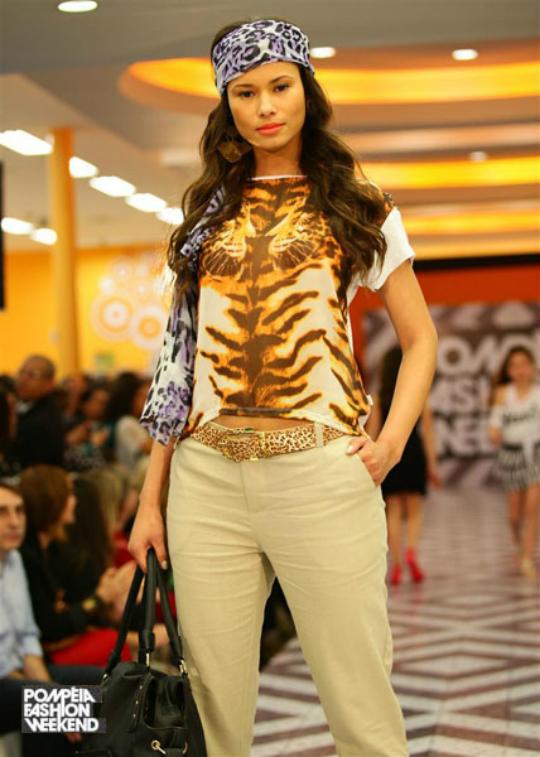 A tendência animal print foi apresentada nos desfiles do Pompéia Fashion Weekend - Foto: Divulgação/Site Oficial