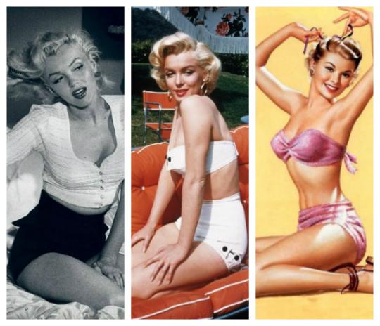 Marilyn Monroe e as pinups já usavam peças no modelo - Foto: Divulgação