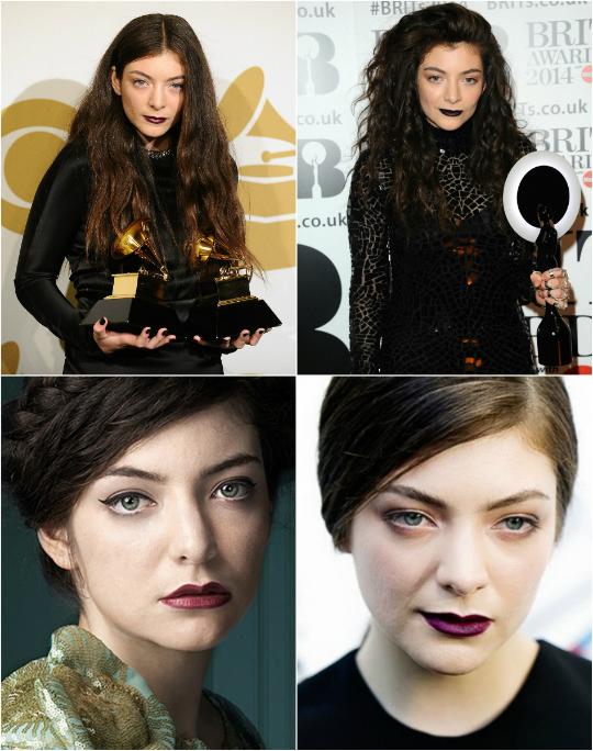 Maquiagem pesada é marca da cantora Lorde - Foto: Divulgação
