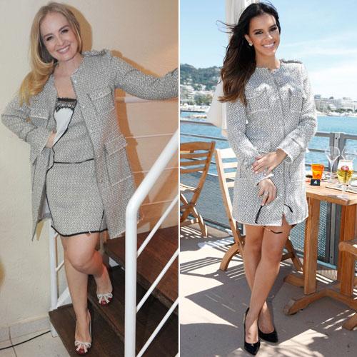 Angélica e Mariana Rios apostaram na combinação vestido + casaco de tweed - Foto: Divulgação