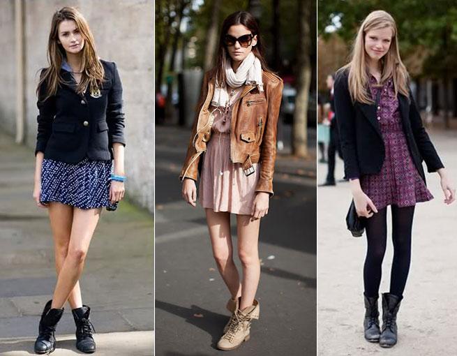 Coturno com saia ou short e meia calça - Foto: Divulgação