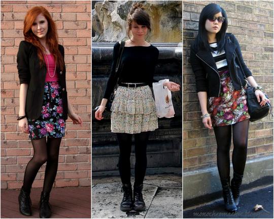 Coturno com saia e short mais meia calça - Foto: Divulgação