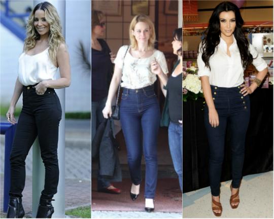 a68514af0 Tendência  jeans de cintura alta é queridinho entre as famosas - De ...