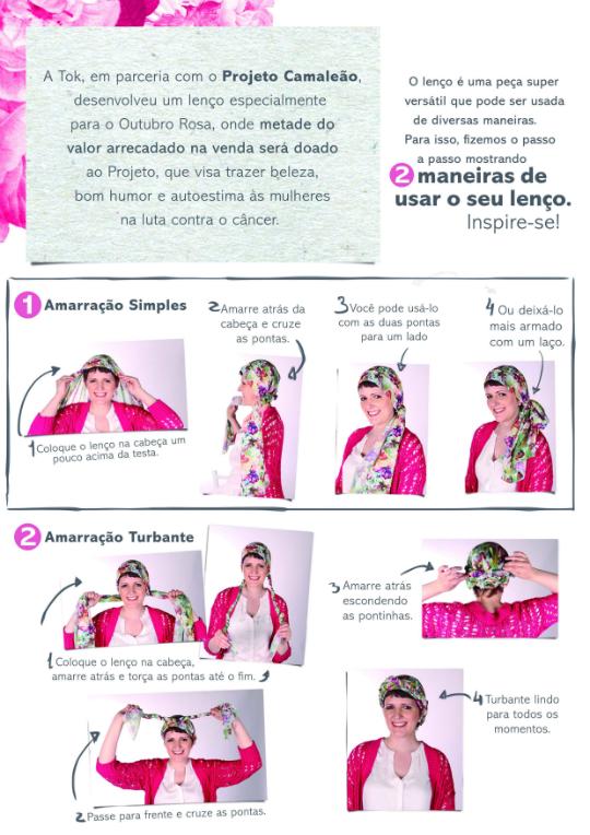 lenço passo a passo - Foto: Divulgação