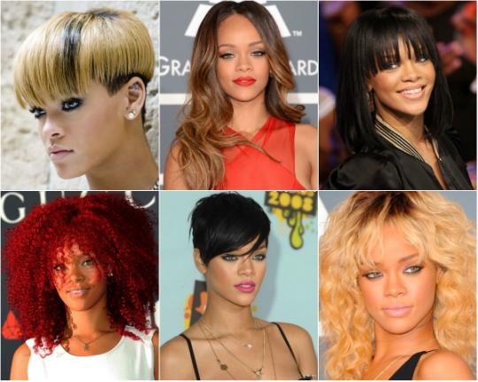 Ao longo de sua carreira, Rihanna já nos surpreendeu muitas vezes com mudanças repentinas de cortes e cores de cabelo - Foto: Divulgação