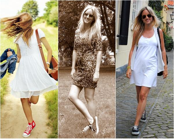 152578f3f7d425 Conforto e estilo: looks que combinam saia ou vestido com tênis são ...