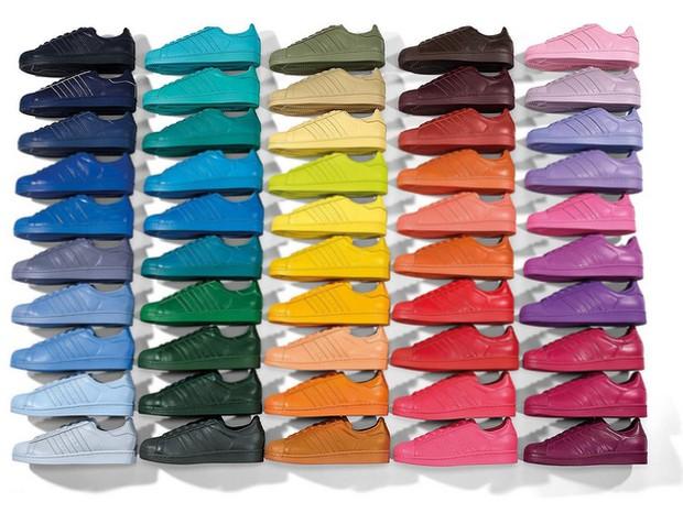 466fa60d4a Em nova parceria com Pharrell Williams, Adidas lança modelo de tênis ...