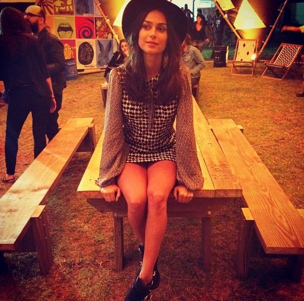Thaila Ayala durante o Lollapalooza - Foto: Reprodução/Instagram