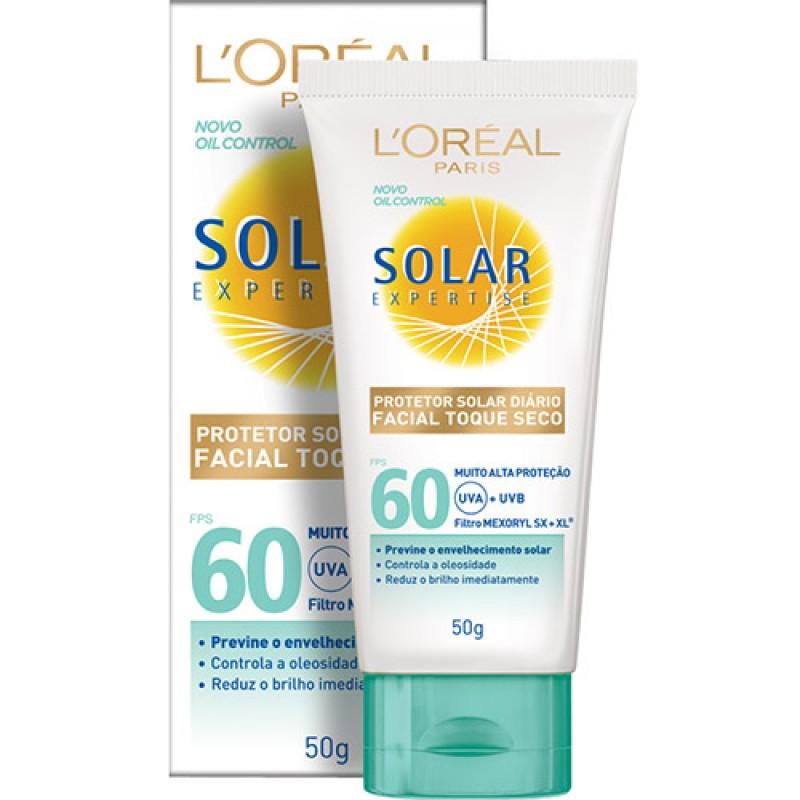 Protetor Facial L'Oréal Solar Expertise Toque Seco FPS 60 - Preço médio: R$58