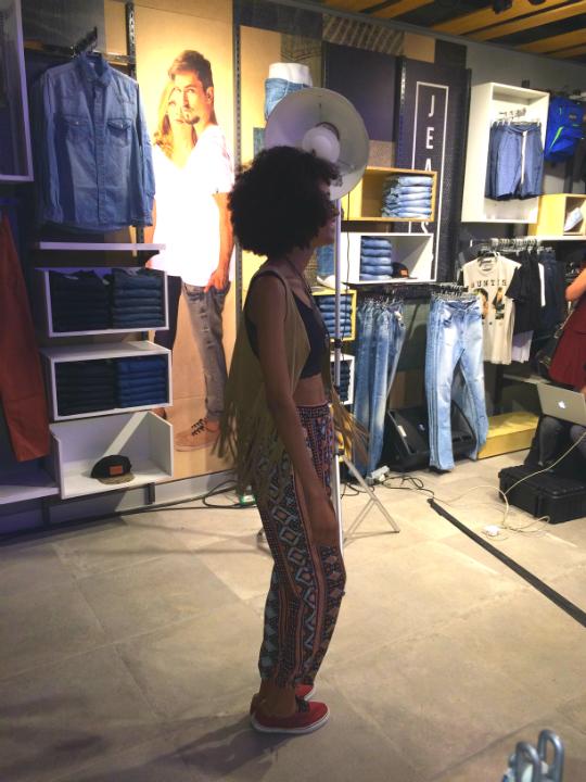 Os convidados podiam montar o seu editorial de moda no evento - Foto: Juju Massena