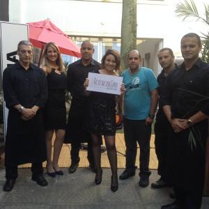 Equipe de apoio do lançamento do #RoteirodaSara