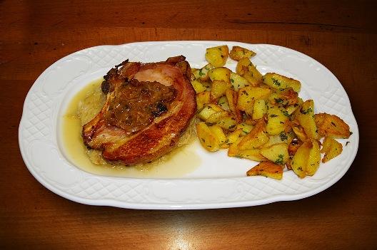 Kasselbraten und bratkartoffeln